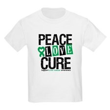 Liver Cancer PeaceLoveCure T-Shirt