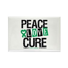 Liver Cancer PeaceLoveCure Rectangle Magnet