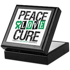 Liver Cancer PeaceLoveCure Keepsake Box