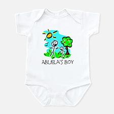 Abuela's Boy Stick Figure Infant Bodysuit