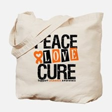 Leukemia PeaceLoveCure Tote Bag