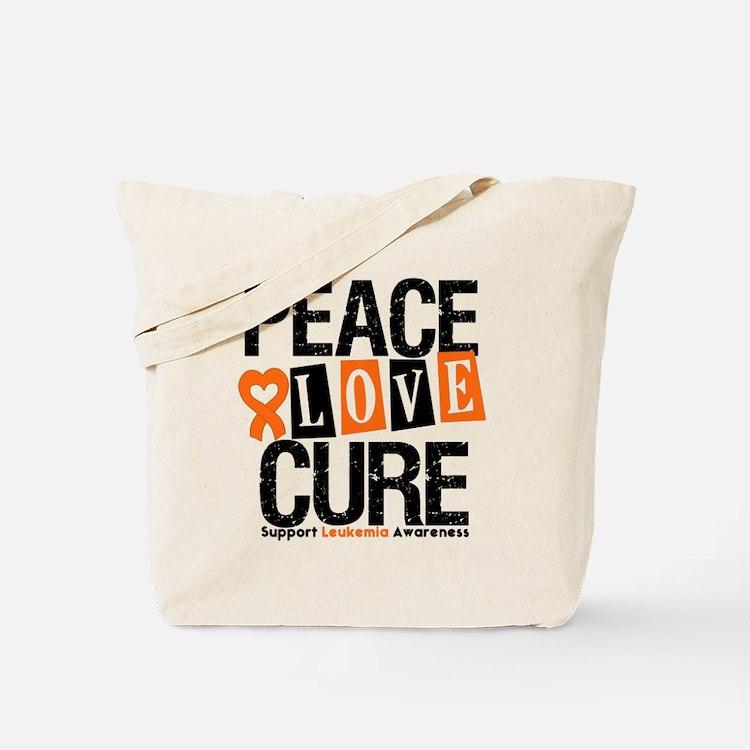 Leukemia PeaceLoveCure Tote Bag