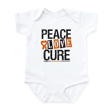 Leukemia PeaceLoveCure Infant Bodysuit