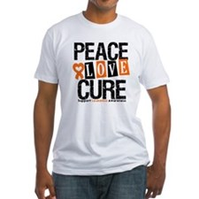 Leukemia PeaceLoveCure Shirt