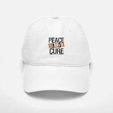 Leukemia PeaceLoveCure Baseball Baseball Cap