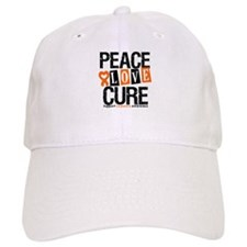 Leukemia PeaceLoveCure Baseball Cap