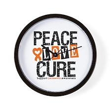 Leukemia PeaceLoveCure Wall Clock