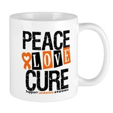 Leukemia PeaceLoveCure Mug