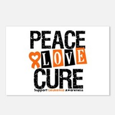 Leukemia PeaceLoveCure Postcards (Package of 8)