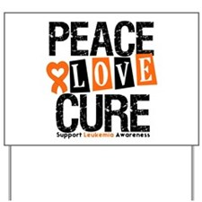 Leukemia PeaceLoveCure Yard Sign