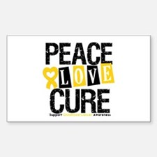 Childhood Cancer Cure Rectangle Decal