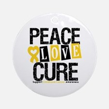 Childhood Cancer Cure Ornament (Round)