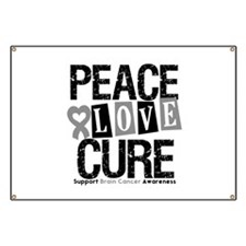 Brain Cancer PeaceLoveCure Banner