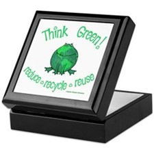 Earth Day Frog Keepsake Box