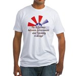 Government and Tyranny Fitted T-Shirt