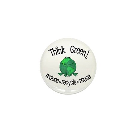 Earth Day Frog Mini Button (10 pack)
