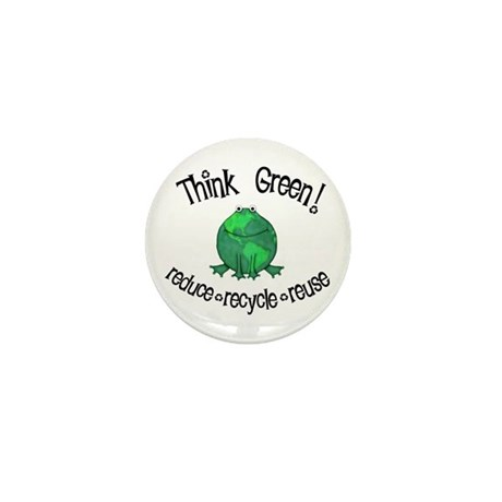 Earth Day Frog Mini Button