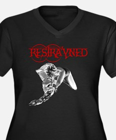 Restrayned Girl in Chains Women's Plus Size V-Neck