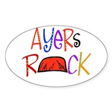 Ayers Rock boutique Oval Decal