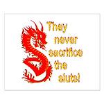 Sacrifice the Sluts Small Poster