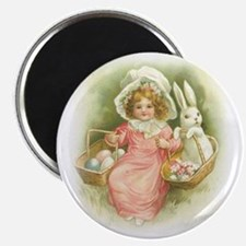 """Cute Easter Bunny"" Magnet"