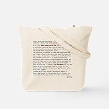 Nicene Creed Tote Bag
