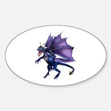 Blue Dragon Oval Decal