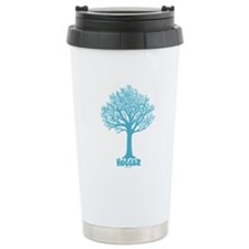 TREE hugger (teal) Travel Mug