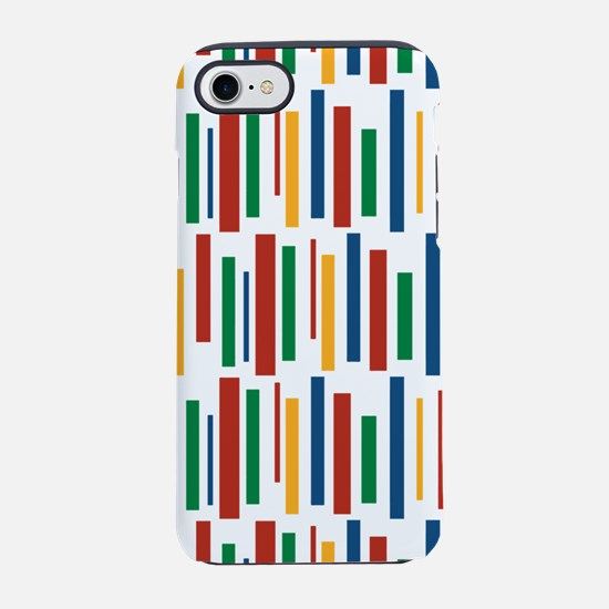 Retro Clowny Lines Pattern iPhone 7 Tough Case
