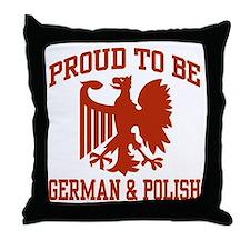 Proud German Polish Throw Pillow
