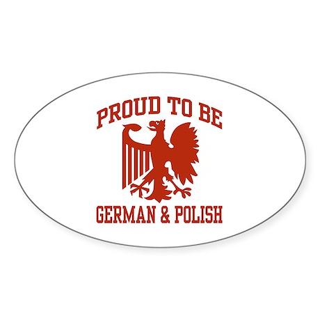 Proud German Polish Oval Sticker