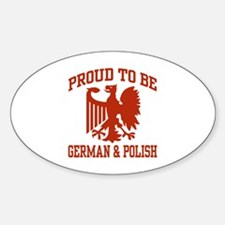 Proud German Polish Oval Stickers