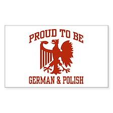 Proud German Polish Rectangle Decal