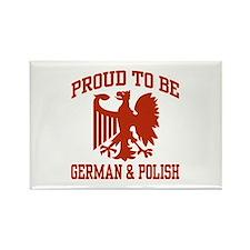Proud German Polish Rectangle Magnet
