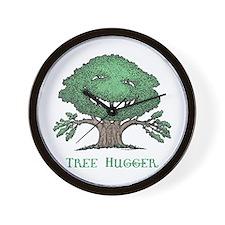 Tree Hugger Wall Clock