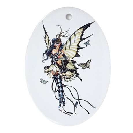 Harlequin Fairy Oval Ornament