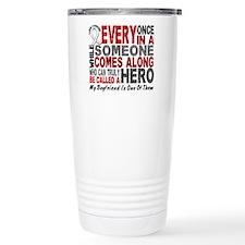 HERO Comes Along 1 Boyfriend LUNG CANCER Travel Mug