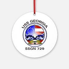 USS Georgia SSGN 729 Ornament (Round)