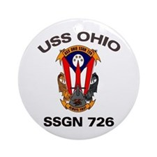 USS Ohio SSGN 726 Ornament (Round)