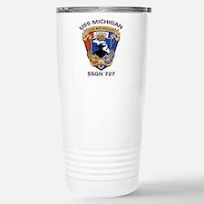 USS Michigan SSGN 727 Stainless Steel Travel Mug
