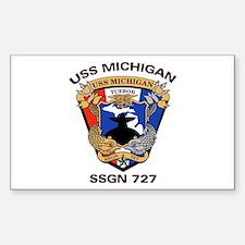 USS Michigan SSGN 727 Rectangle Decal