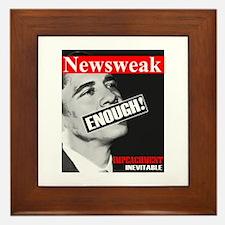 """Enough! Impeachment Inevitable "" Framed Tile"