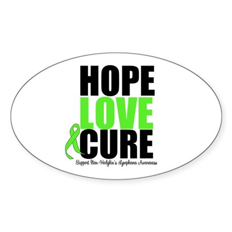 NonHodgkins HopeLoveCure Oval Sticker (50 pk)