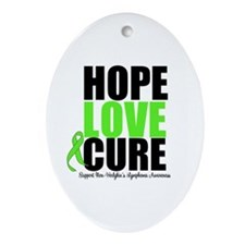 NonHodgkins HopeLoveCure Oval Ornament