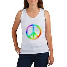 Tie Dye Peace Sign Women's Tank Top