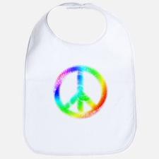Tie Dye Peace Sign Bib