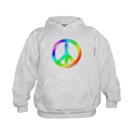 Tie Dye Peace Sign Kids Hoodie