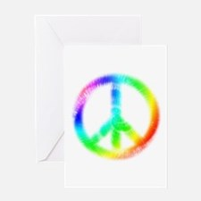 Tie Dye Peace Sign Greeting Card