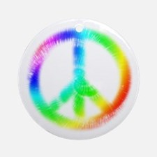Tie Dye Peace Sign Ornament (Round)