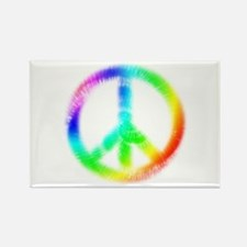 Tie Dye Peace Sign Rectangle Magnet (100 pack)